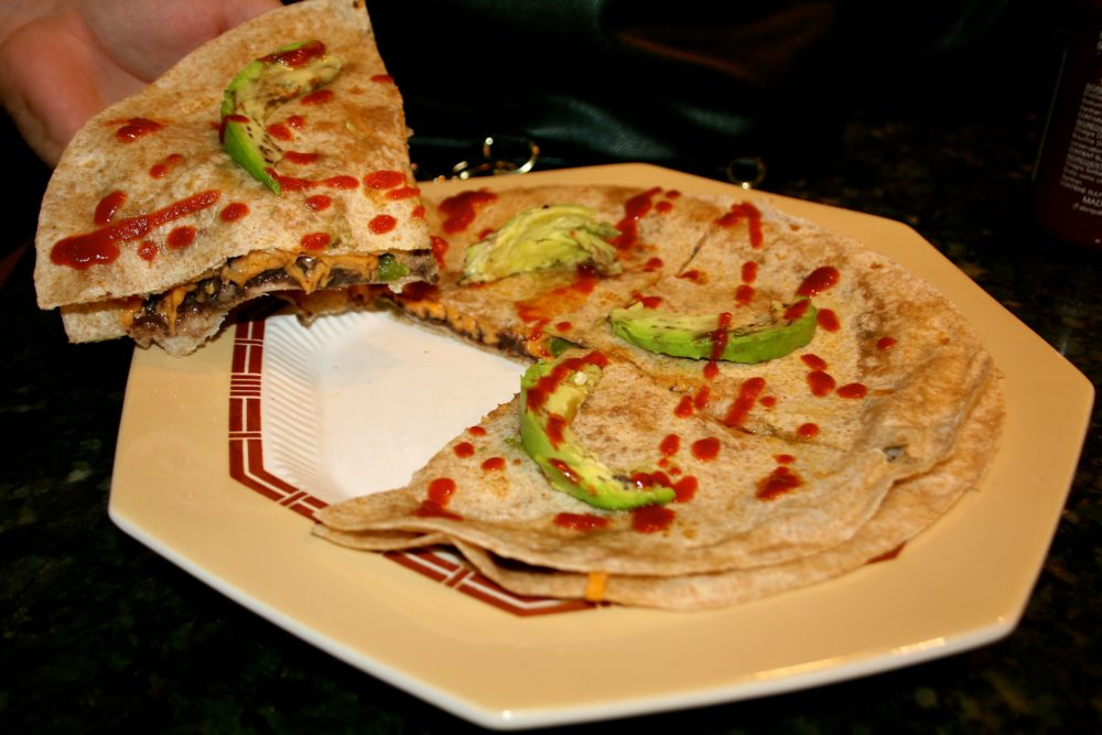 Vegan Quesadilla Recipe: Black Bean And Jalapeño Quesadillas Made With Daiya Cheddar And Red Onion