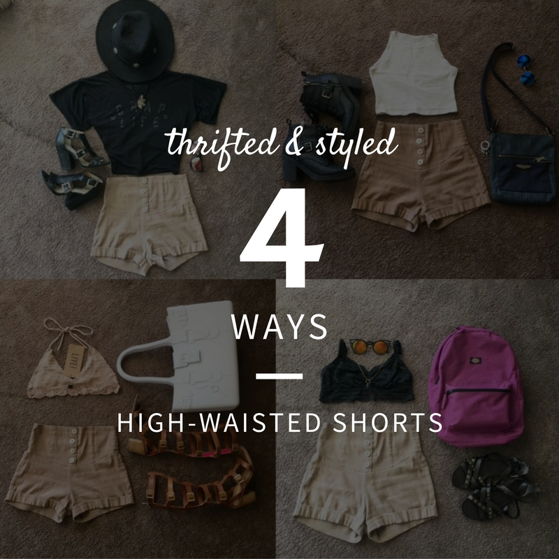 Thrift Blog: High-Waisted Shorts 4 Ways