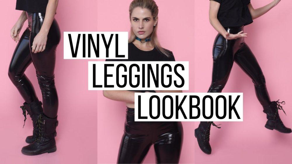 Shiny Vinyl Leggings Lookbook | Femme Luxe Try On Haul